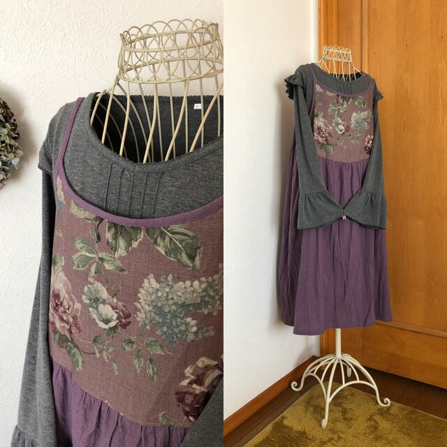 オーバルキャミワンピース紫の画像1枚目