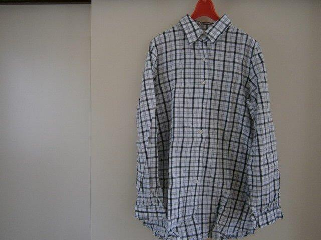 ri::z 浴衣生地・チェックシャツ・丈が長め♪の画像1枚目