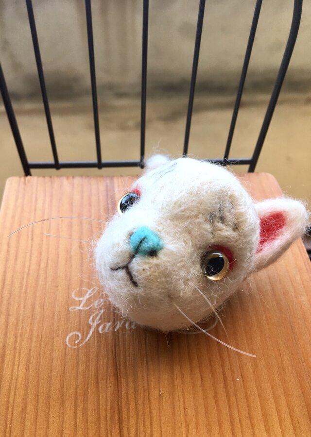 羊毛お狐様ブローチ※SALE※の画像1枚目