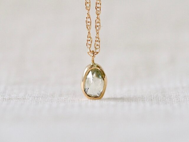 Aqua Drop Diamond Necklace 03の画像1枚目