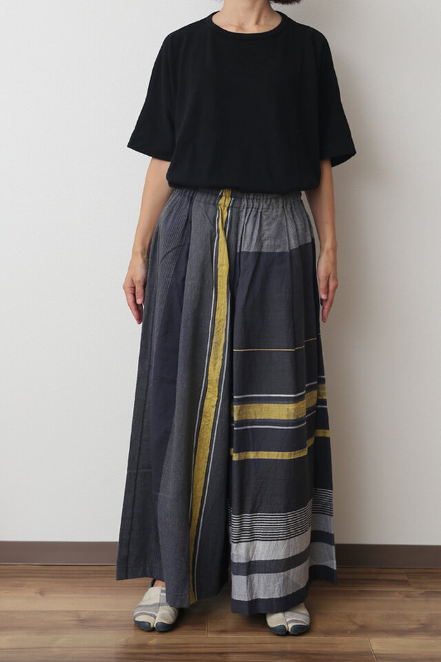 wide pants LONG COTTONの画像1枚目