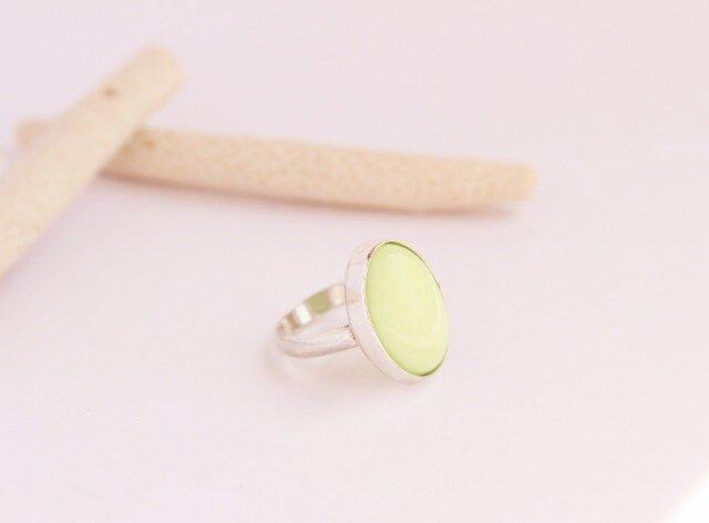 レモンクリソプレーズ Silver Ring の画像1枚目