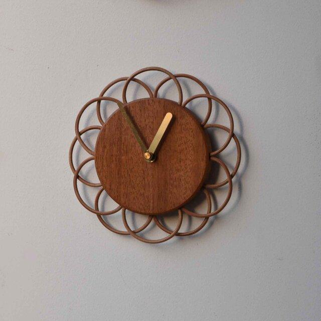 マホガニーの小さな時計の画像1枚目