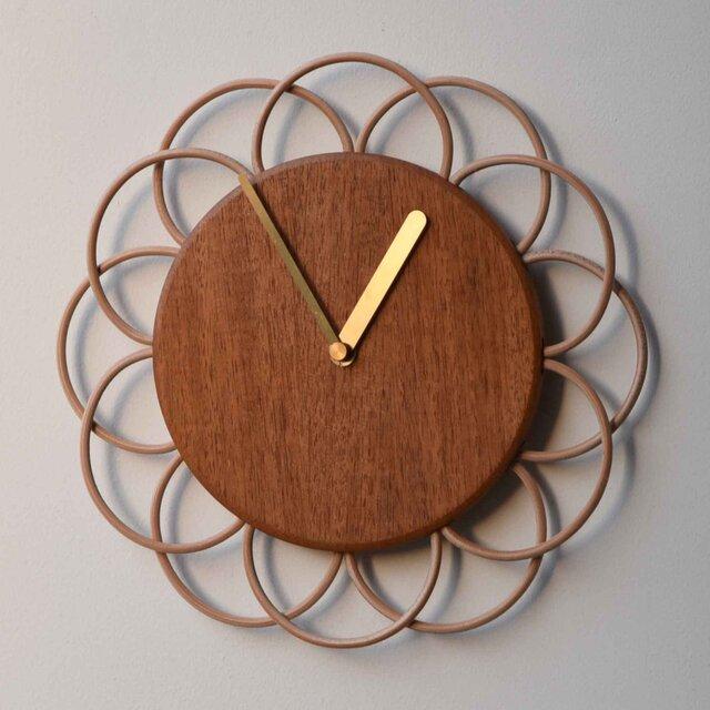 マホガニーの大きな時計の画像1枚目