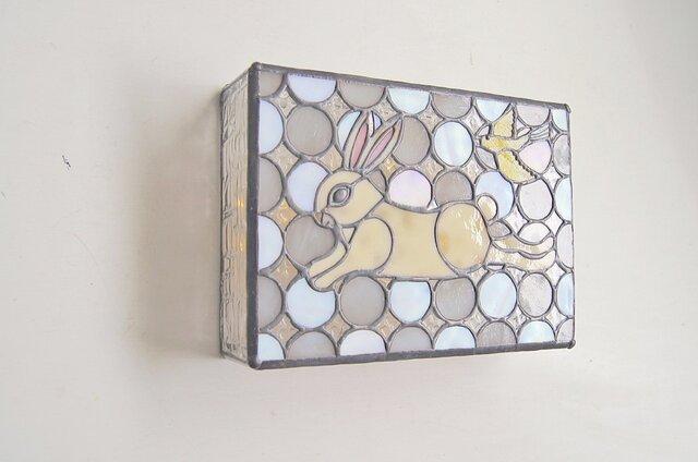 ウサギと鳥のボックスランプの画像1枚目