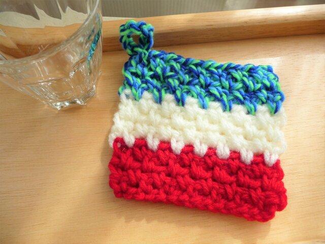 かぎ針編みのコースター (2)の画像1枚目