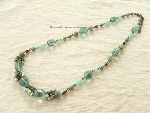 Necklace フローライト ジャスパー(N1154)の画像1枚目