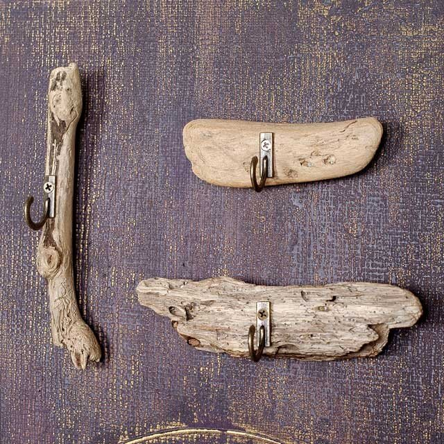 流木のマグネット、フック付き3個ー2の画像1枚目