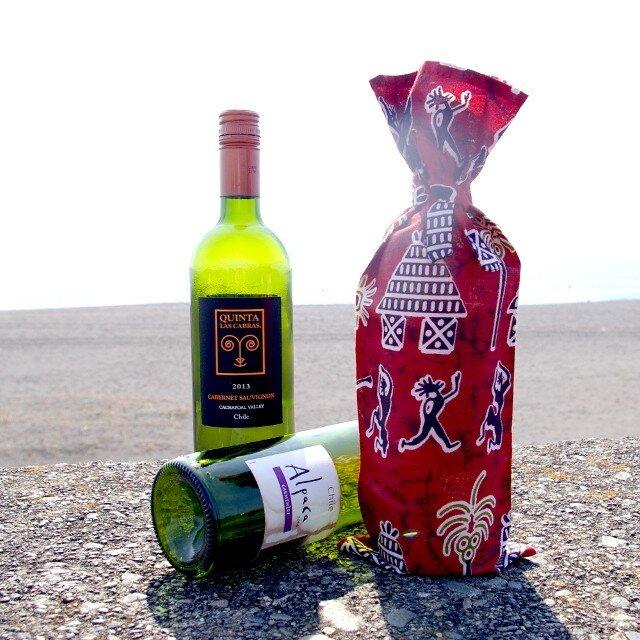 アフリカンカラフル ワインギフトバッグ <red> 【送料無料】の画像1枚目