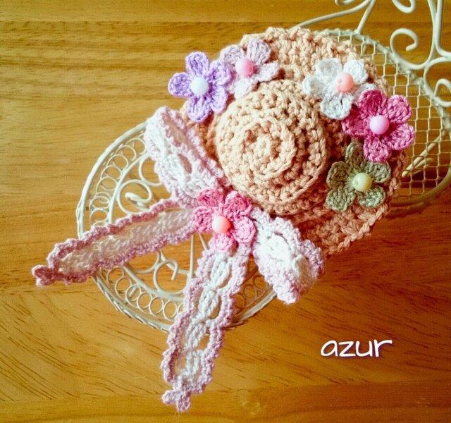 小花の帽子のコサージュ(小)の画像1枚目