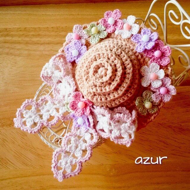 小花の帽子のコサージュ(大)の画像1枚目