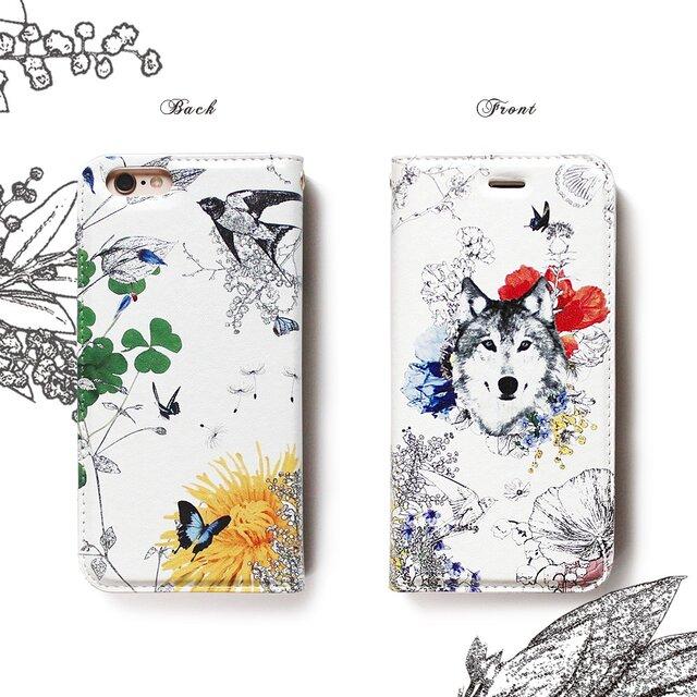 ★手帳型ケース★イケメン狼くん Aくんver SS Collection iPhone11〜選択可能 iPhoneケースの画像1枚目