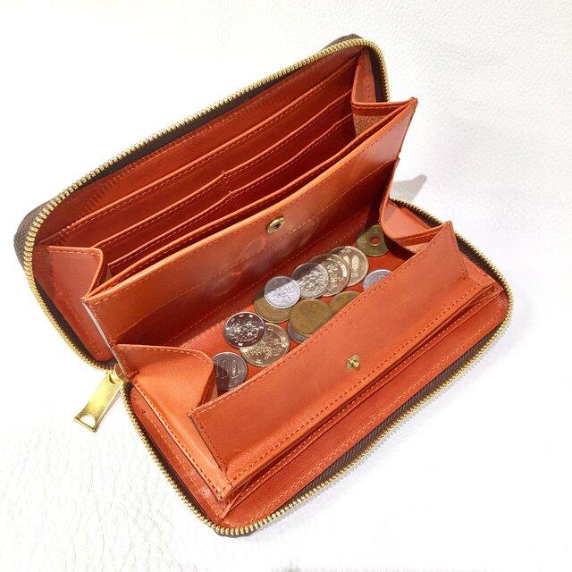 BOX型小銭入れ ラウンドファスナー長財布の画像1枚目