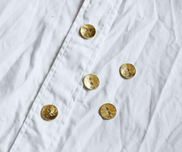 満月ボタン(真鍮製ボタン)16mm 5個セットの画像1枚目