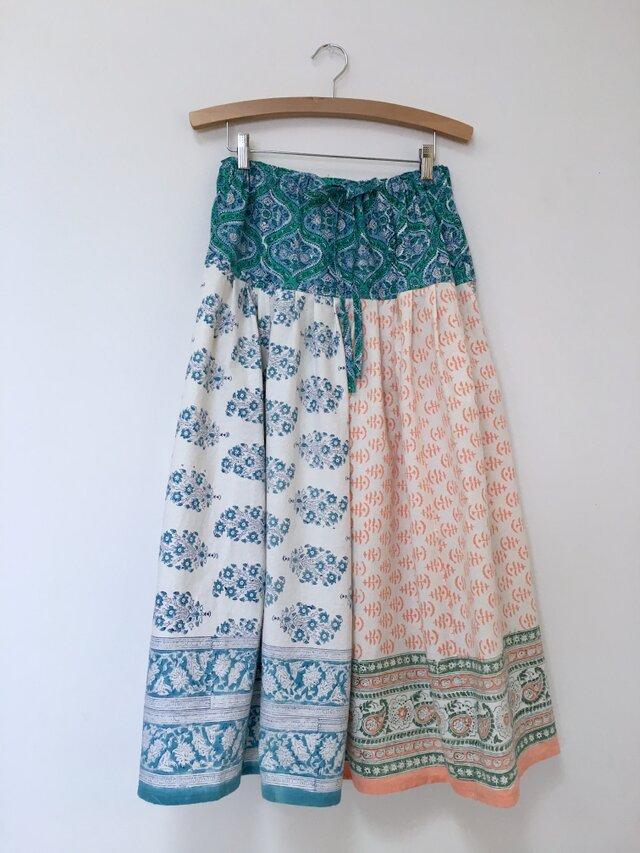 Jaipur パッチワークロングスカートの画像1枚目
