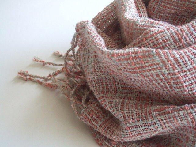 手織りコットンストール・・はるはあけぼのの画像1枚目