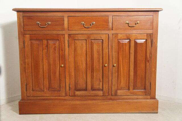 アンティーク調 マホガニー レジカウンター テーブル サイドボード 収納棚 レジ台 店舗什器 木目の画像1枚目
