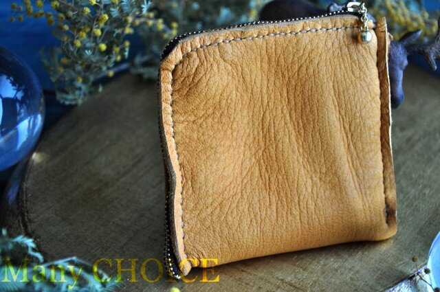やみつきエルクのL型財布(黄茶)の画像1枚目