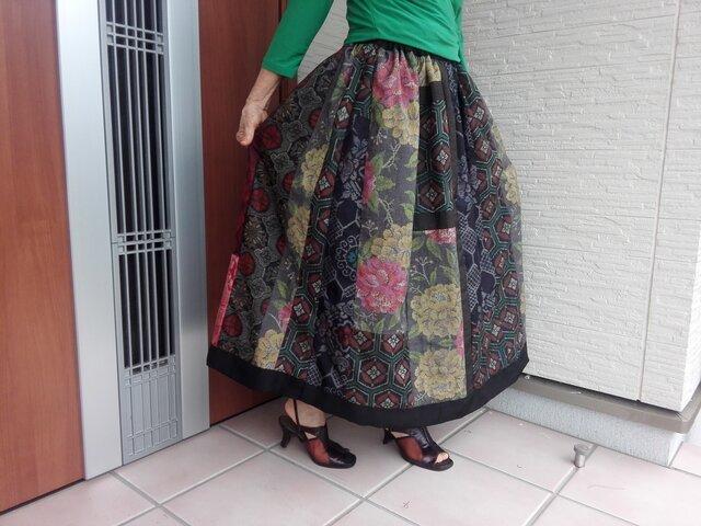 エレガントスカート   一点品ですので再版は出来ませんの画像1枚目