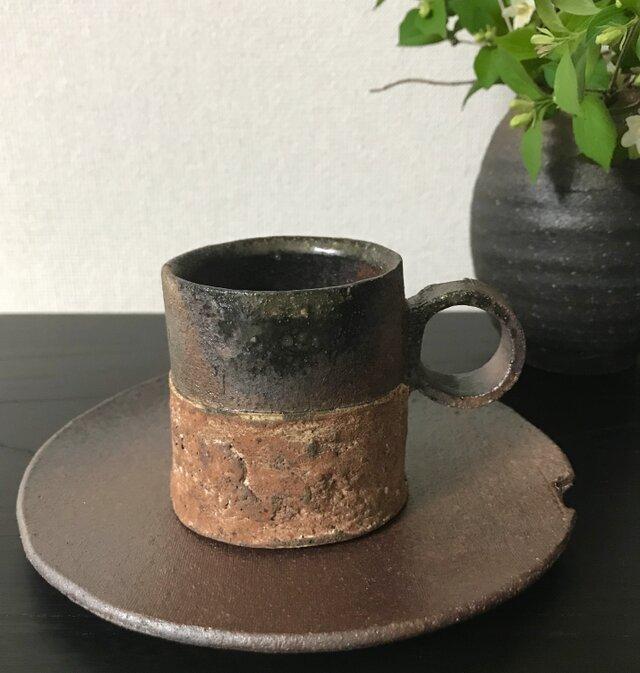 焼締カップ&ソーサーの画像1枚目