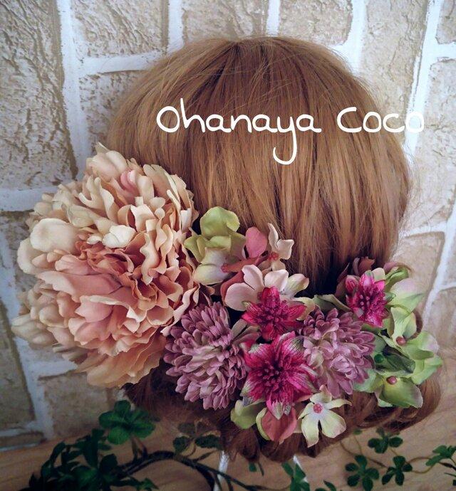 高貴な美しさ 芍薬の髪飾り8点Set No175の画像1枚目