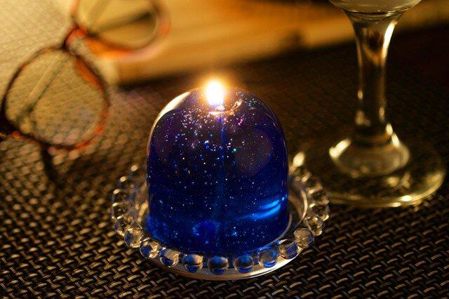 流星Candle   キャンドルソーサー付きの画像1枚目
