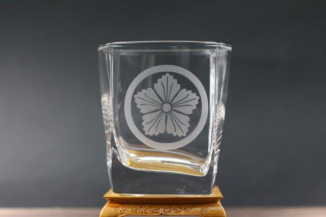 ロックグラス 江戸撫子紋の画像1枚目