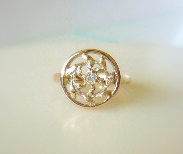Spiral Leaf & Diamond Ring Ⅰの画像1枚目