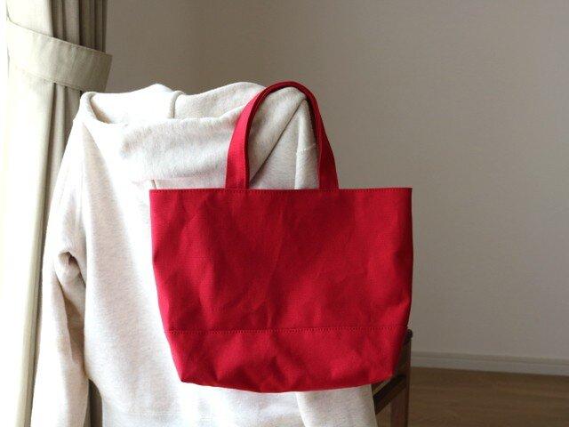 【受注製作】イチゴ 倉敷産帆布使用トートMの画像1枚目