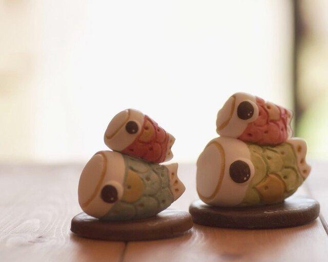 紙粘土で♪ミニミニ鯉のぼりの画像1枚目