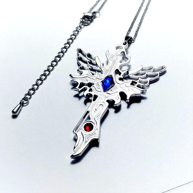 【Wing Crossネックレス】 羽&十字架 / ペアやプレゼントとしてもおしゃれの画像1枚目