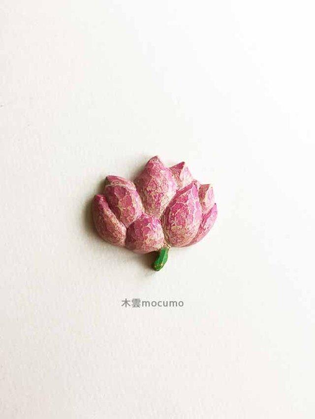 クスノキのブローチ *蓮の花* の画像1枚目