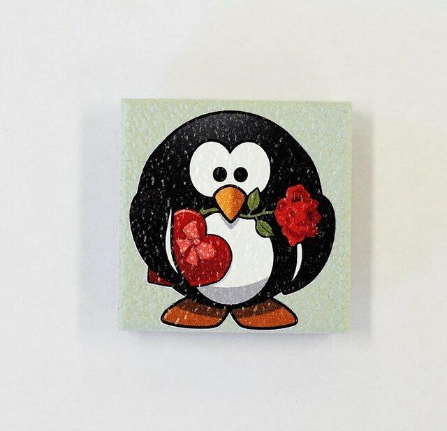 バラペンギンイラストのマグネット 2個 ものづくり工房 ウィングス