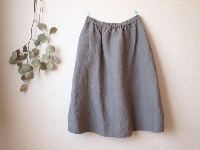LINEN ロングスカート *グレー* size FREEの画像1枚目