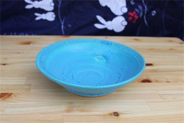 トルコブルー深皿[18May-1]《釉薬》の画像1枚目