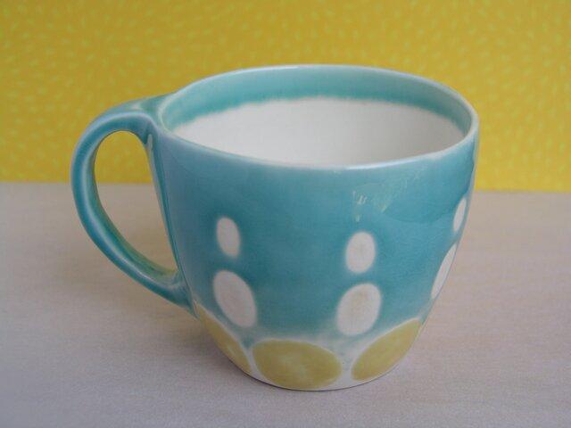 マグカップ (舞い上がるドット)の画像1枚目