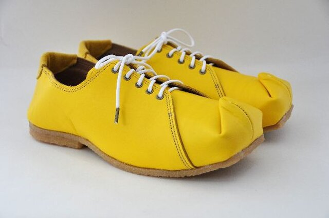 『tote sneakers』yellow smooth leatherの画像1枚目
