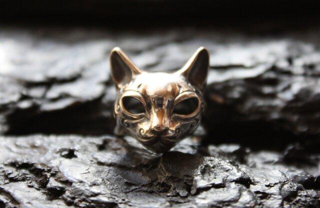 模様入り猫マスクリングの画像1枚目