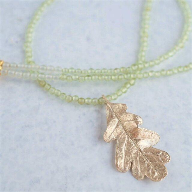 Oak leaf necklace{P077K10(NS)}の画像1枚目