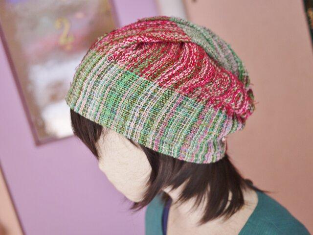 手織り ふにふに帽子 春夏の画像1枚目