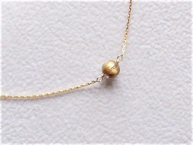 (再販)小粒なゴールデンルチルの華奢なK24GFネックレスの画像1枚目
