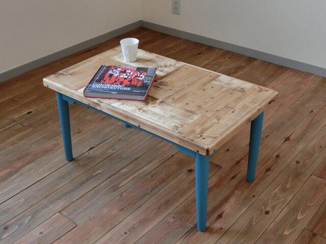 パッチワーク柄のローテーブルの画像1枚目