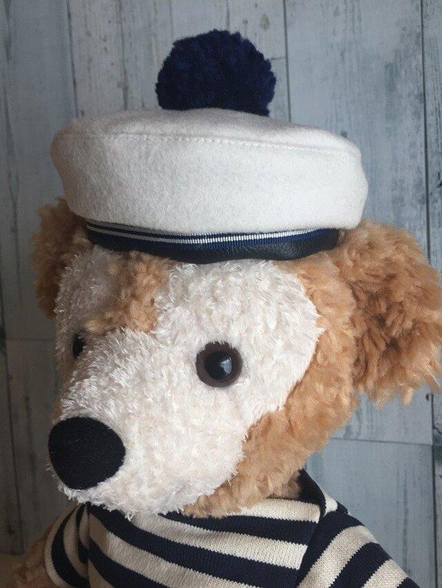 ダッフィー帽子 セーラーベレーの画像1枚目