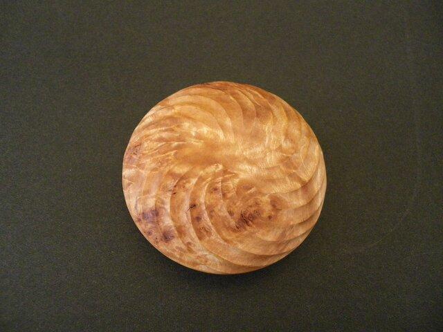 香合 木彫り 変わった杢目 バール杢 根杢の画像1枚目