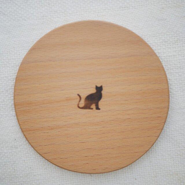 手鏡 black catの画像1枚目