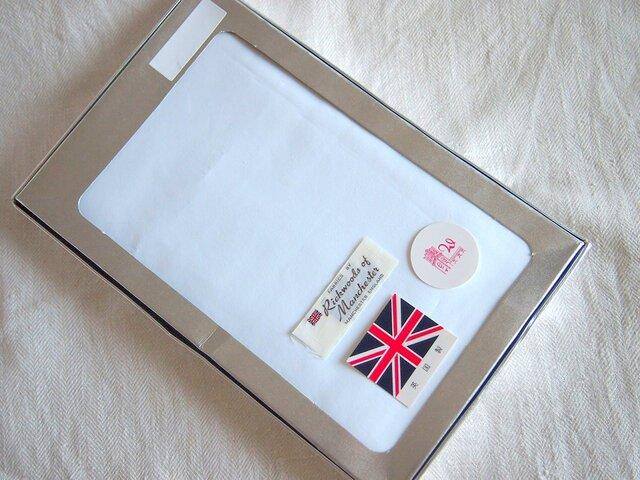 英国製 白のコットンブロード生地 ワイシャツ着分の画像1枚目