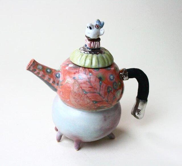 珍しい王様のティーポット/青磁 /色絵磁器 /陶芸家 / ceramic / teapot wear の画像1枚目