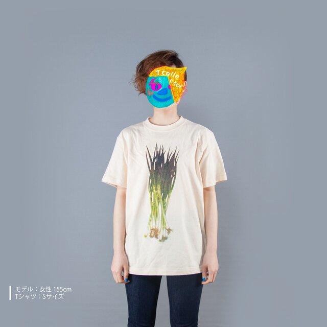 野菜シリーズ 長ネギ おもしろTシャツ ユニセックスS〜XLサイズ  Tcollectorの画像1枚目