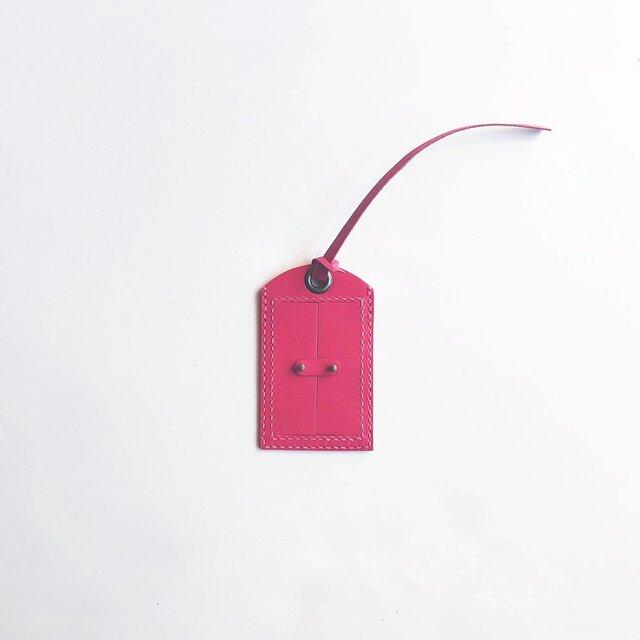 とびらのラゲッジタグ ピンクの画像1枚目
