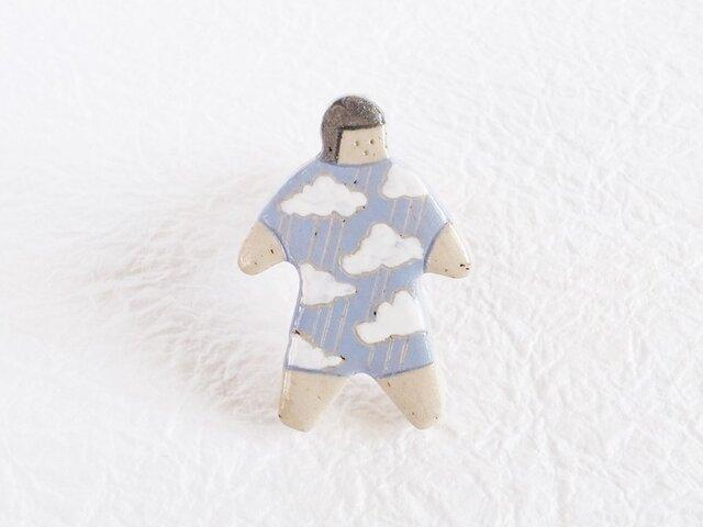 オヨヨちゃんブローチ(雨に唄えば)【受注制作】の画像1枚目